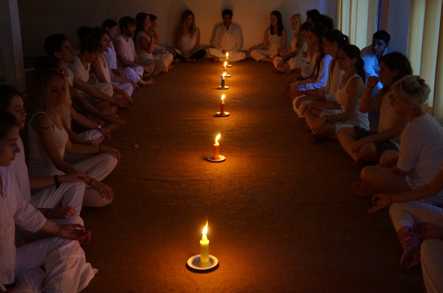 Meditation session at mahi yoga centre in rishikesh