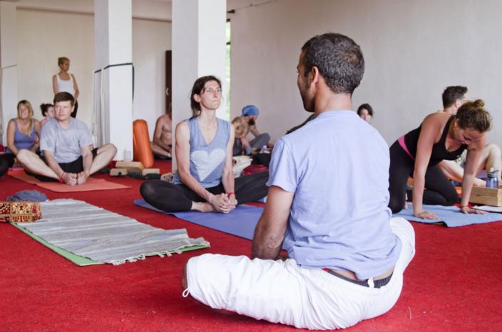 mahi taking classes in dharamsala
