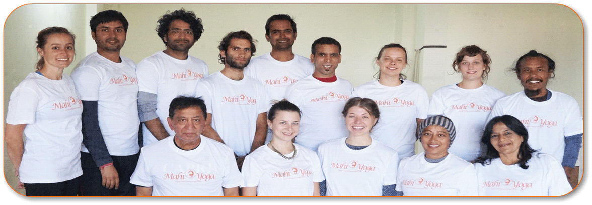 Students at Yoga teacher training in dharamsala
