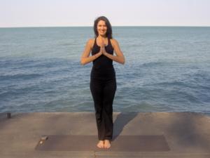 Pranamasana at Mahi Yoga Centre