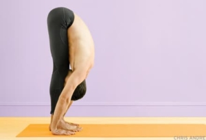 Standing Forward Bend Pose at Mahi Yoga